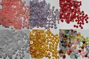 Перли, камъчета, мъниста, висулки