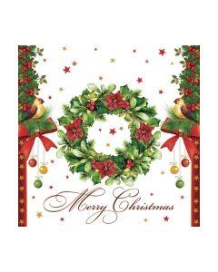 Салфетка (SN0065) 33x33 Merry Christmas