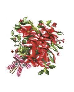 Салфетки (SN0079 P) 33x33 Red Christmas Poinsettia