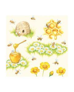 Салфетка (SN0272) 33x33, Bees