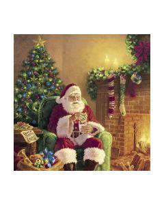 Салфетка (SN0382) 33x33,Santa at Home