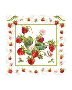 Салфетка (SN0442) 33x33, Fresh Strawberries