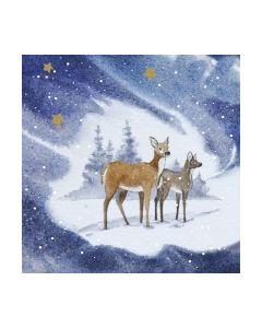 Салфетка (SN0443) 33x33,Blue Deers