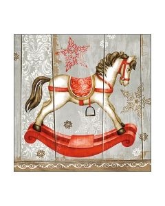 Салфетка (SN0783) 33x33, Rocking Horse