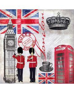 Салфетка (S1687) 33x33, London Time