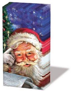 Салфетка (SN0548) 21x21, Remember, Santa!
