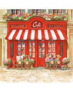 Салфетка (SN0431) 33x33, Paris Cafe