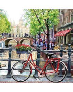 Салфетка (SN0415) 33x33, Amsterdam Canal