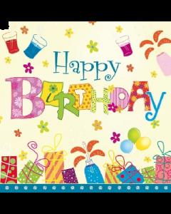 Салфетка (S1075) 33x33 Честит Рожден ден