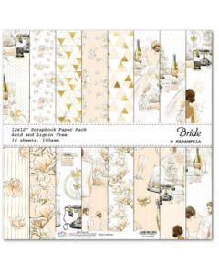 К-т дизайнерски картони 30 x 30 см, 16л, 190 гр. - Bride