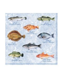 Салфетка (SN0556) 33x33 Fishes