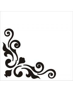 Шаблон за оцветяване и релеф (N ATS075) - Ъглов, 8х8,5 см