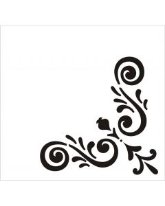 Шаблон за оцветяване и релеф (N ATS076) - Ъглов шаблон, 8х8,5 см