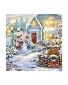Салфетка (SN0795) 33x33 CHRISTMAS EVENING