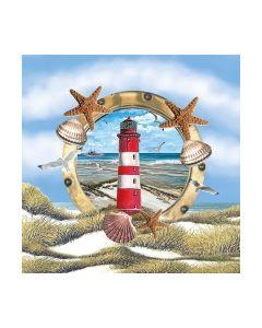 Салфетка (SN0816) 25x25, Lighthouse In Partridge