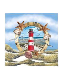 Салфетка (SN0833) 33x33, Lighthouse In Partridge