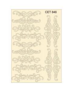 Комплект с елементи от бирен картон - Завъртулки 846