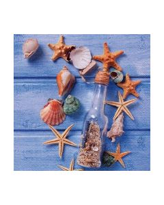 Салфетка (SN0860) 33х33, Glas Bottle with Seashells
