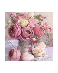 Салфетка (SN876) 33x33 Pink Roses