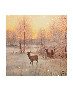 Салфетка (SN0907) 33x33, Deer At Sunset