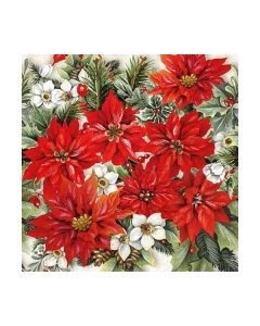 Салфетка (SN0913) 33x33, Pointsettia All Over