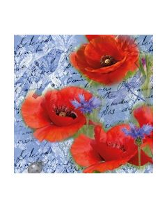 Салфетка (SN0941) 33x33, Painted Poppies Blue