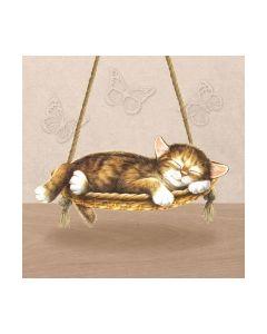 Салфетка (SN0944) 33x33, Dreaming Cat