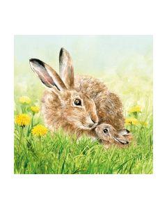 Салфетка (SN0946) 33x33, Hare Family