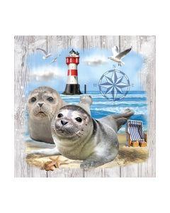 Салфетка (SN0960) 33x33, Seal Couple