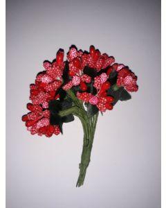 Захарни тичинки за декорация - Червени