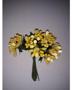 Захарни тичинки за декорация - Жълти