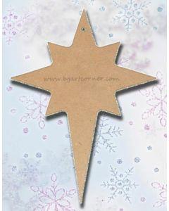 MDF фигурка (M238) Витлеемска звезда 12 х 16 см.