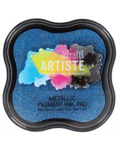 Тампон с пигментно мастило (550123) - Metallic Jean Blue
