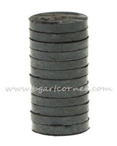 Магнити черни 10бр - 12 mm диаметър