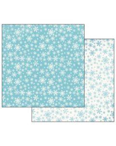 Stamperia - Дизайнерски скрапбукинг картон 30,5 x 30,5 см (sbb486) Снежинки