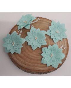 Ръчно изработени цветя 2 - Мента /ACQUA MARINA/