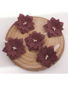 Ръчно изработени цветя 2 - Тъмно  вишнево /AMARANTO/