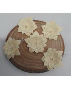 Ръчно изработени цветя 2 - Мръсно бяло /AVORIO/