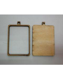 Дървени основи за бижута - 003