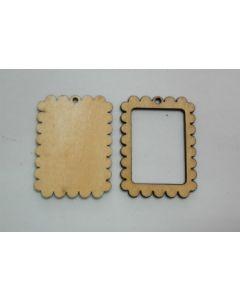 Дървени основи за бижута - 004
