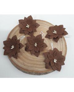 Ръчно изработени цветя 2 - Тъмно кафяво /CAFFE/