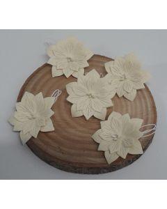 Ръчно изработени цветя 2 - Крем /CREMA/