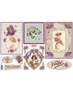 Stamperia - Оризова хартия за декупаж (DFS257), 48x33, Violet