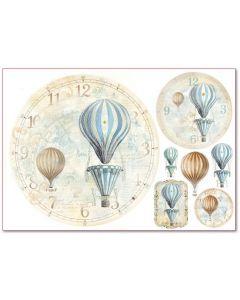 Stamperia - Оризова хартия за декупаж (DFS319), 48х33, 28гр., Балони