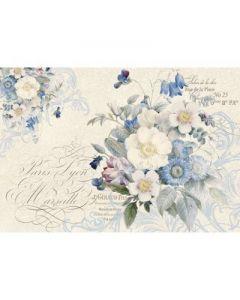 Stamperia - Оризова хартия за декупаж (DFS342), 48x33, Цветя в синьо