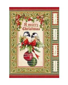 Stamperia - Оризова хартия за декупаж (DFSA4340), A4, 28гр., Merry Christmas