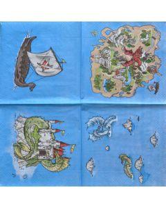 Салфетка (S1133) 33x33 Приказка с дракони