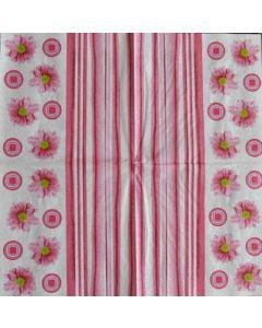 Салфетка (S1110) 33x33 Хризантеми розови