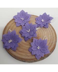 Ръчно изработени цветя 2 - Тъмно лилаво /IRIS/