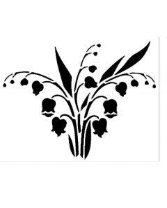 Шаблон за оцветяване и релеф (N ATS060), 11х14 см,Момини сълзи